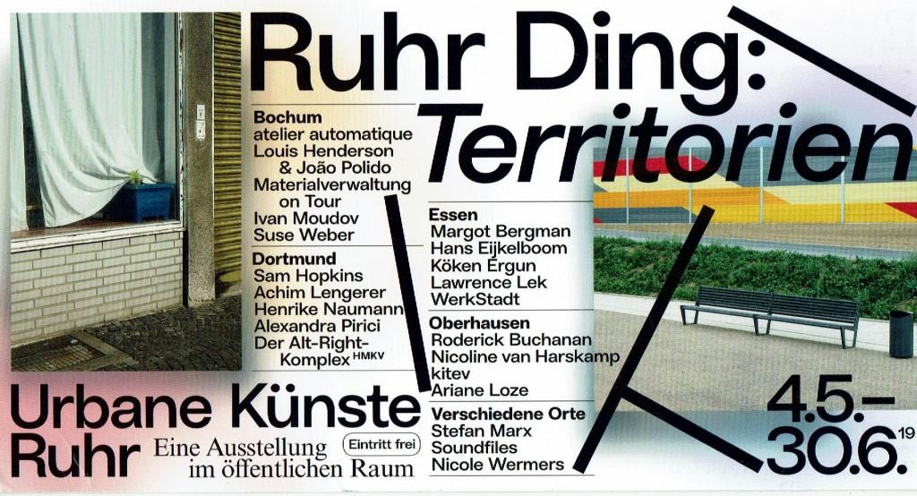Ruhr Ding_Territorien_von_Urbane Künste Ruhr_Flyer_2019